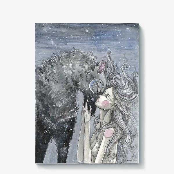 Холст «Волк»