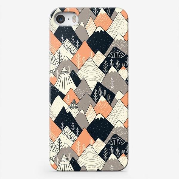 Чехол iPhone «горы в скандинавском стиле»