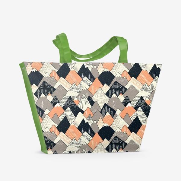 Пляжная сумка «горы в скандинавском стиле»
