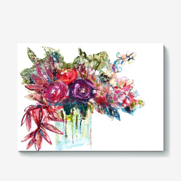 Холст «Цветочная фантазия»