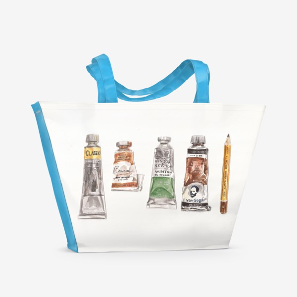 Пляжная сумка «Масло и карандаш»