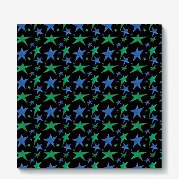 Холст «Паттерн звездное зимнее небо»