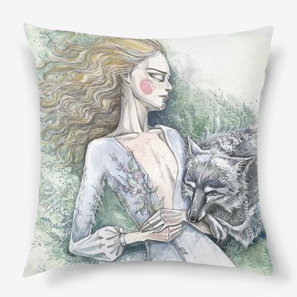 Подушка «С волком»