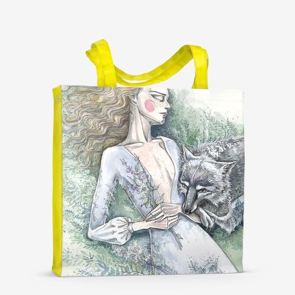 Сумка-шоппер «С волком»