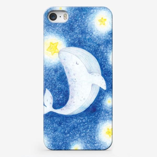 Чехол iPhone «Кит и Звезды»