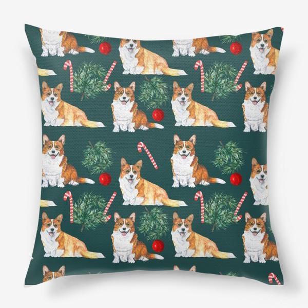 Подушка «Новогодние собаки »