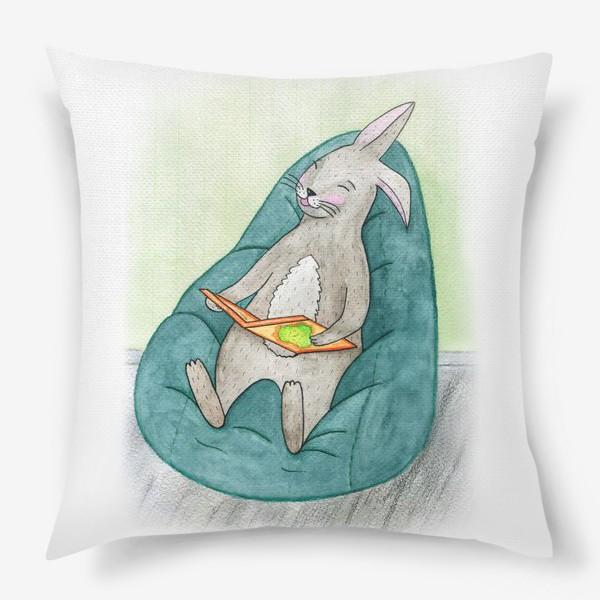 Подушка «Читающий заяц»
