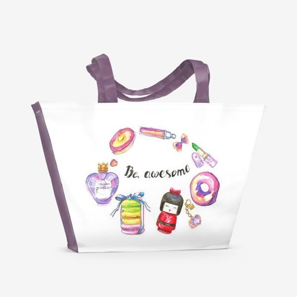 Пляжная сумка «Be awesome»