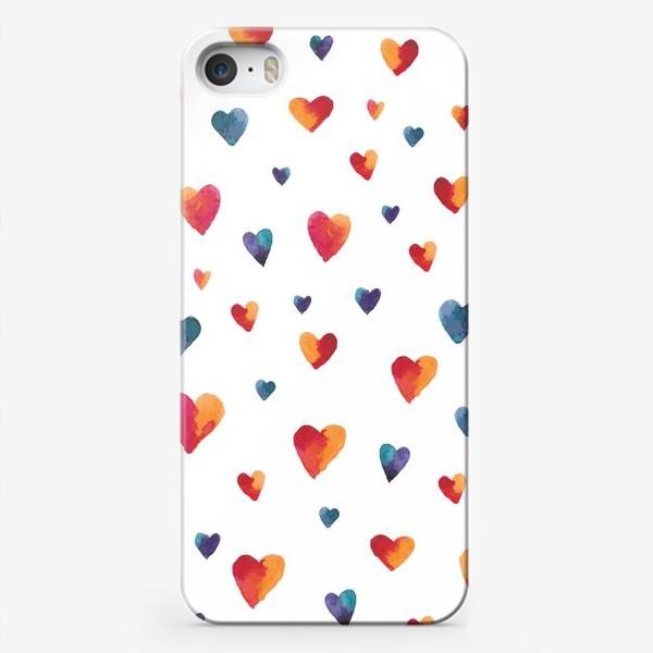 Чехол iPhone «Сердечки»