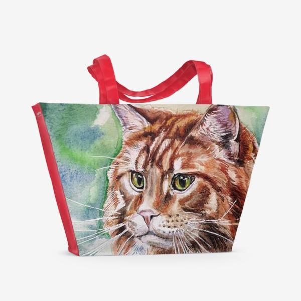 Пляжная сумка «Рыжий »