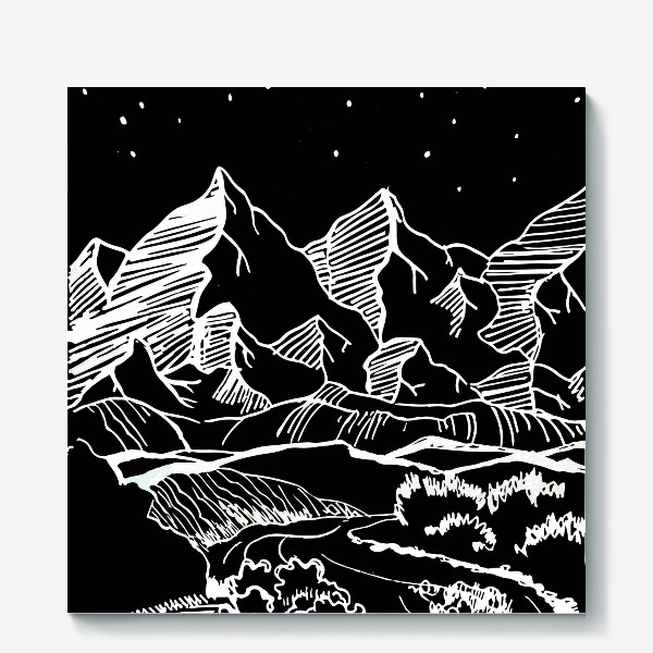 Холст «Белые горы»