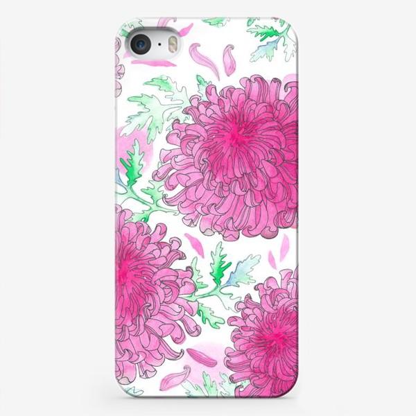 Чехол iPhone «Японская хризантема (паттерн)»