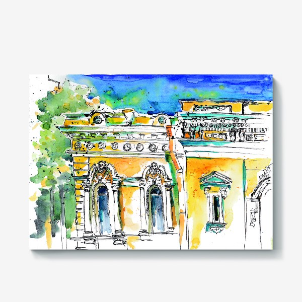 Холст «Петербург фасады»