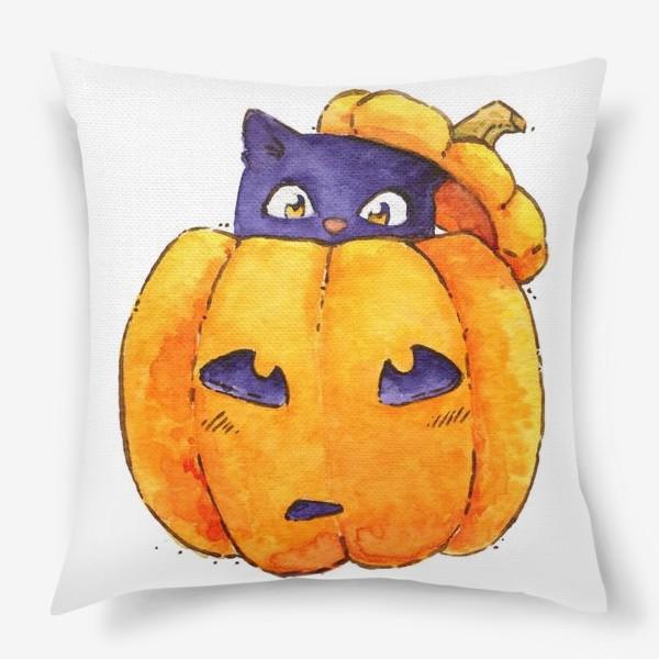 Подушка «Тыква-котик»