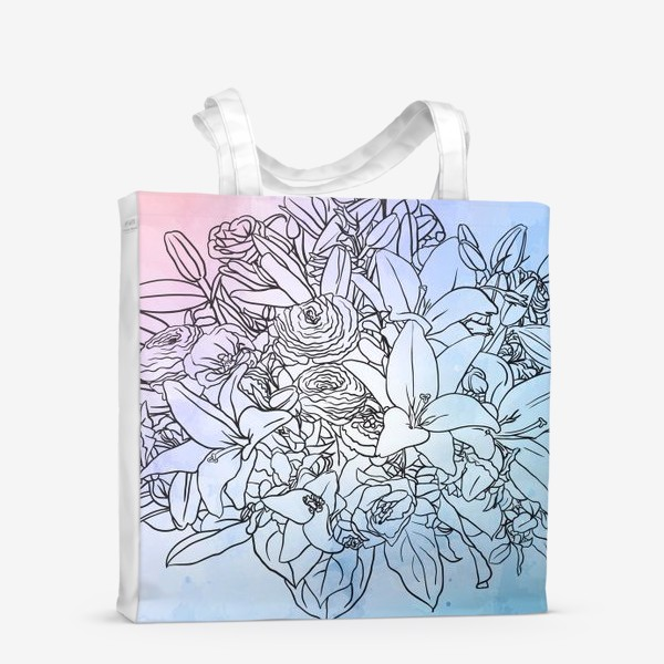 Сумка-шоппер «Букет с лилиями»