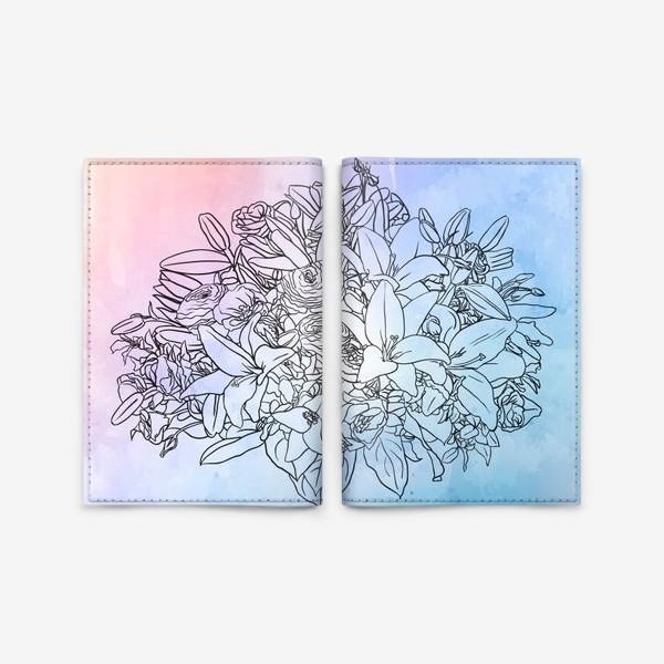Обложка для паспорта «Букет с лилиями»