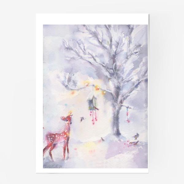 Постер «Зимой в лесу»