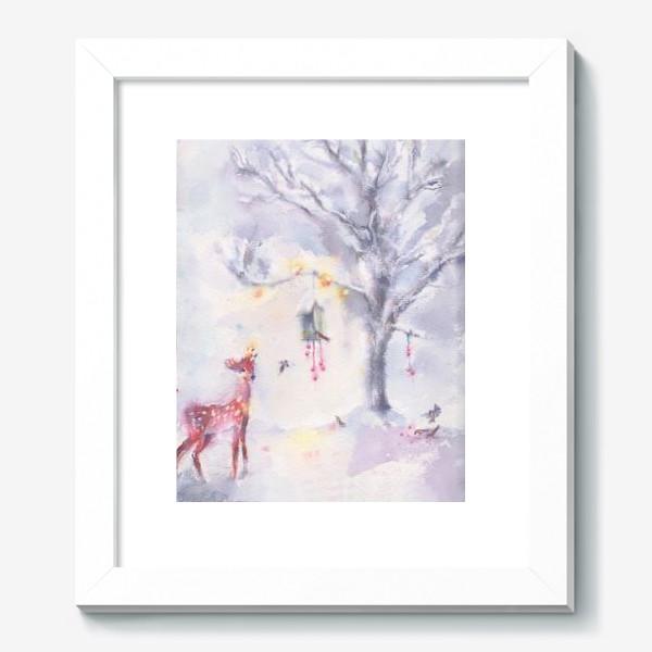 Картина «Зимой в лесу»