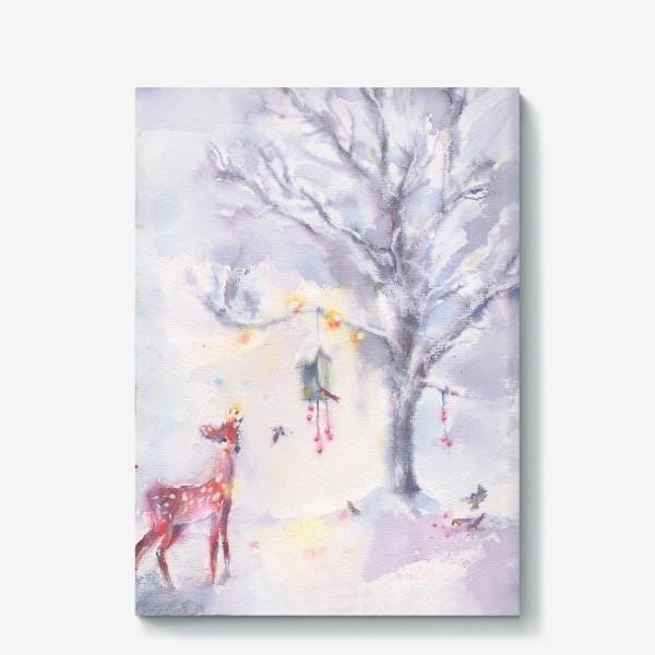 Холст «Зимой в лесу»