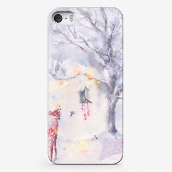 Чехол iPhone «Зимой в лесу»