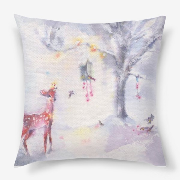 Подушка «Зимой в лесу»