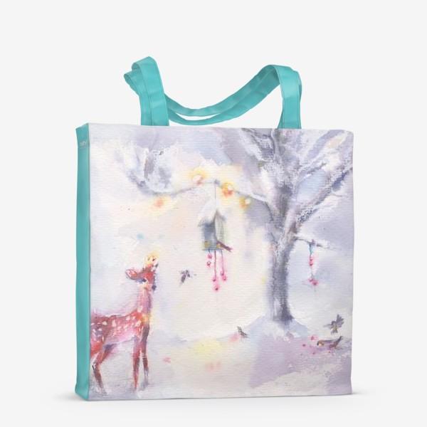 Сумка-шоппер «Зимой в лесу»