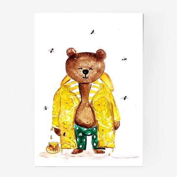Постер «Мишка в уютном медовом плаще»