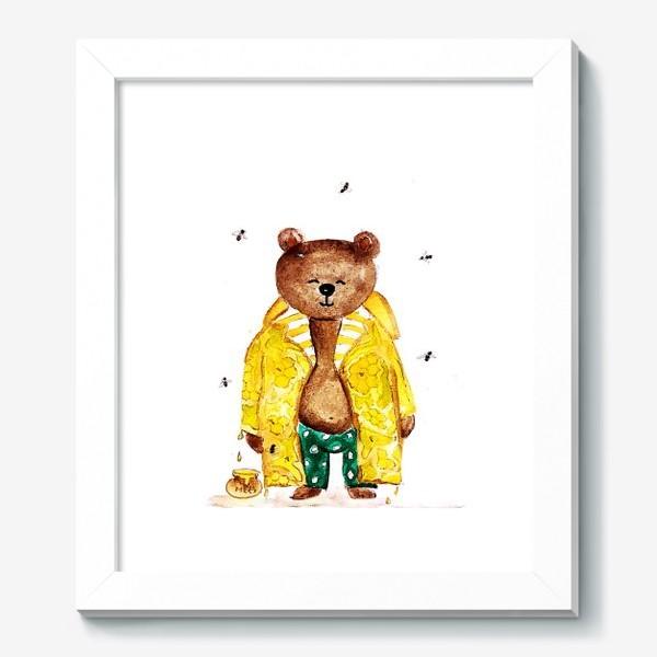Картина «Мишка в уютном медовом плаще»