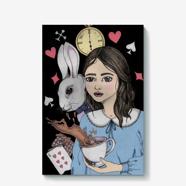Холст «Безумное Чаепитие с Алисой»