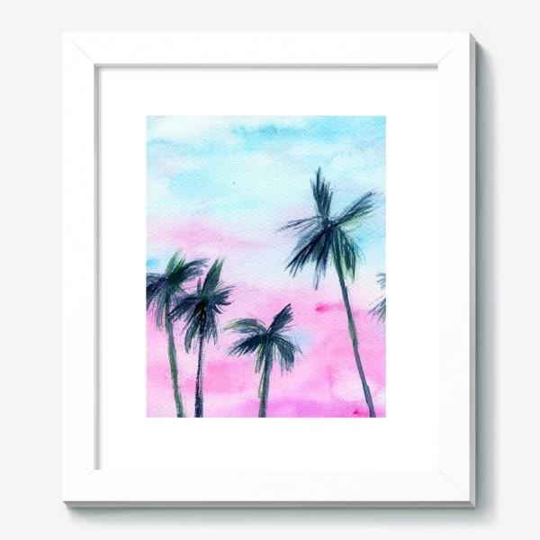Картина «Закат в Майaми // акварель»