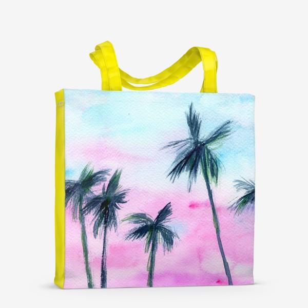 Сумка-шоппер «Закат в Майaми // акварель»