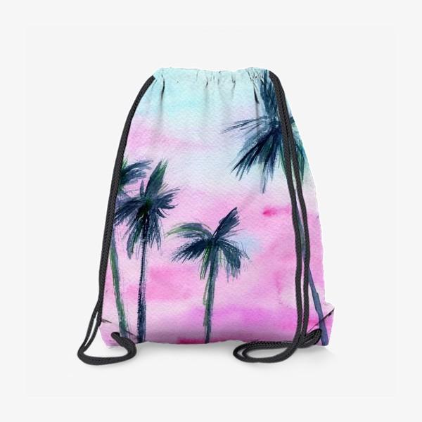 Рюкзак «Закат в Майaми // акварель»