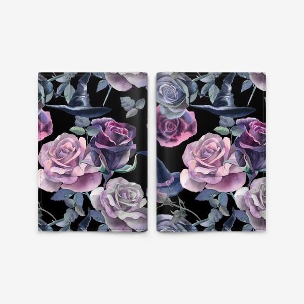 Обложка для паспорта «Dark flowers»