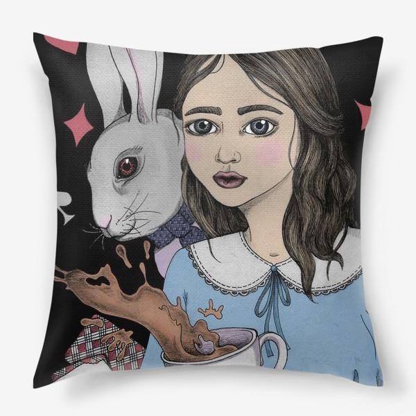 Подушка «Безумное Чаепитие с Алисой»