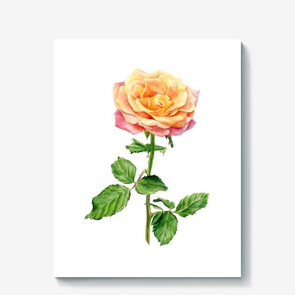 Холст «Желтая роза»