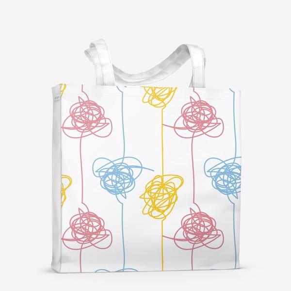 Сумка-шоппер «Разноцветные каракули»