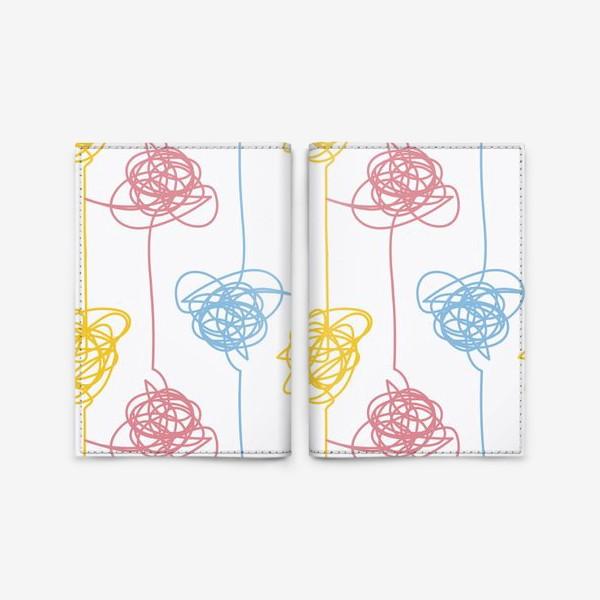 Обложка для паспорта «Разноцветные каракули»