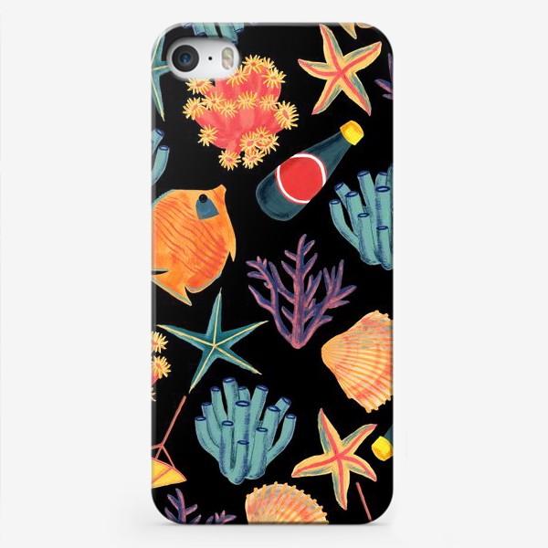 Чехол iPhone «Морской принт/Sea World»