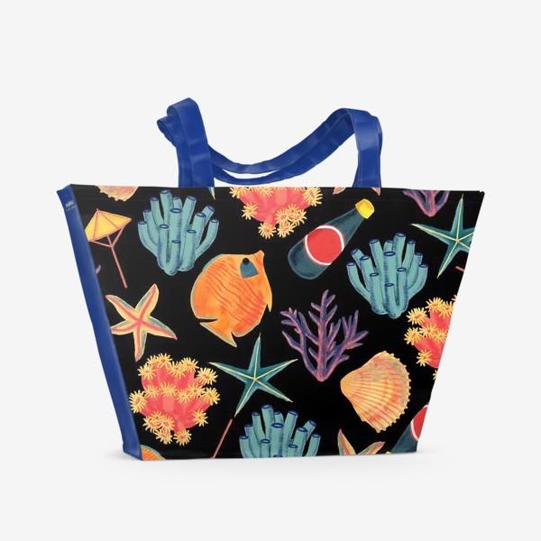 Пляжная сумка «Морской принт/Sea World»