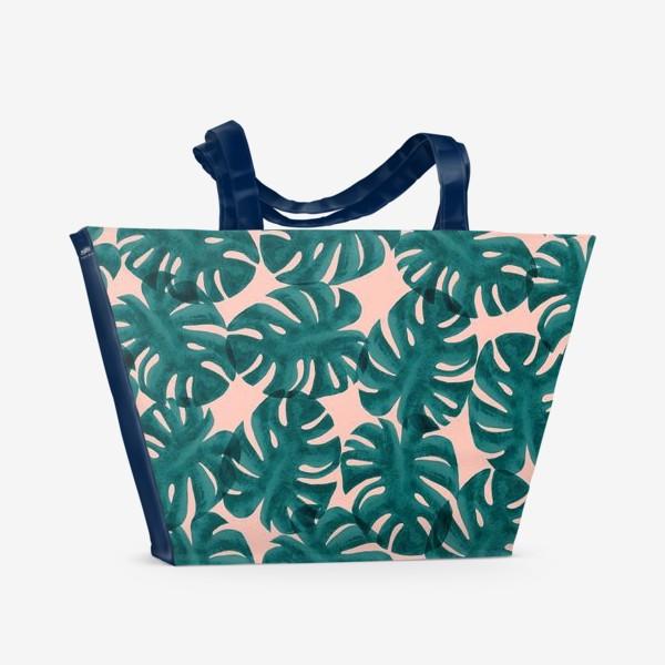 Пляжная сумка «Листья монстеры/Monstera Leaves»