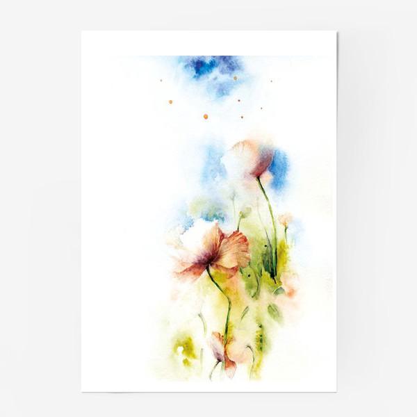 Постер «Маки в облаках»