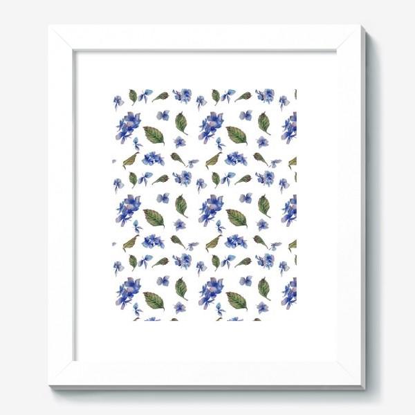 Картина «Голубая гортензия крупная»