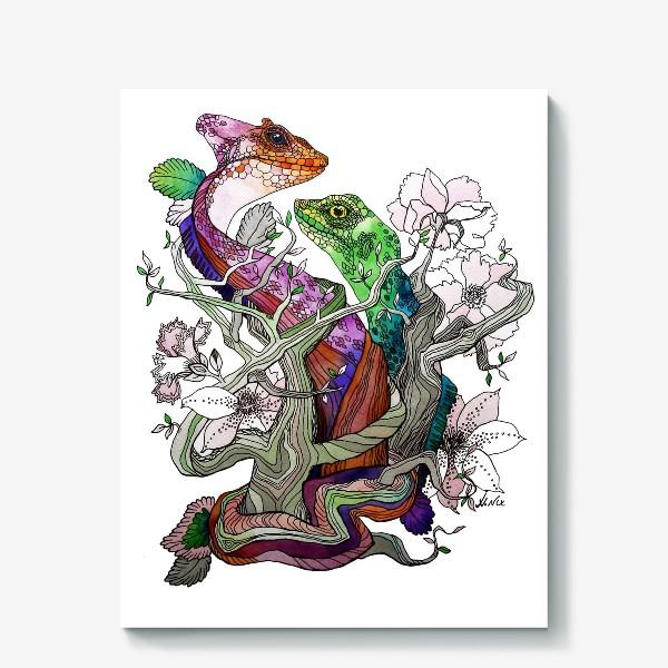 Холст «Рептилии»
