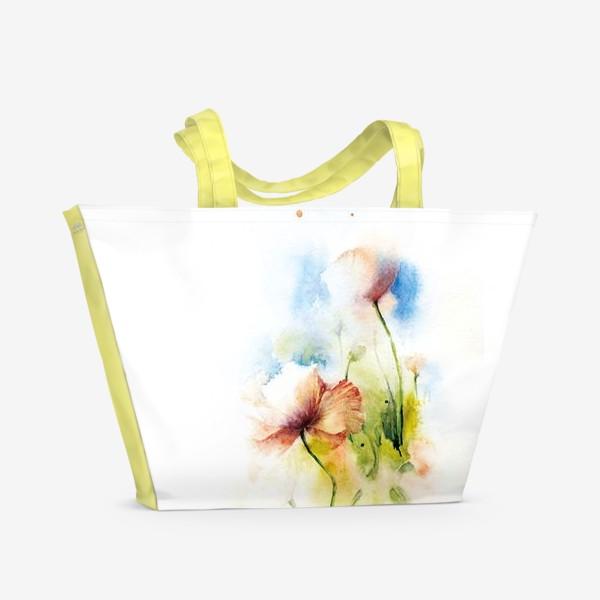 Пляжная сумка «Маки в облаках»