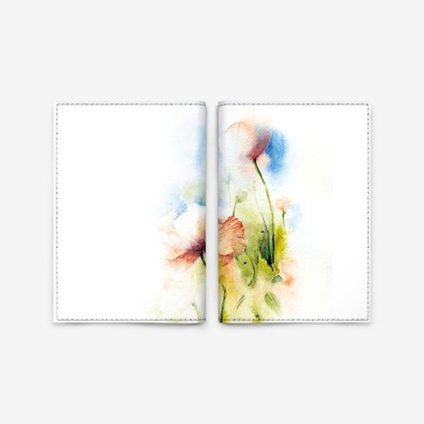 Обложка для паспорта «Маки в облаках»
