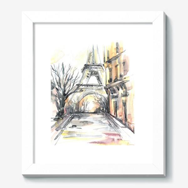 Картина «Улочка с Эйфелевой башней.»