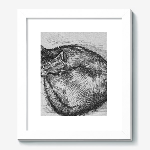 Картина «спящая кошка»