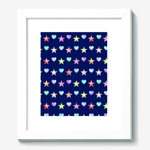 Картина «Праздничный паттерн из звезд и сердец»