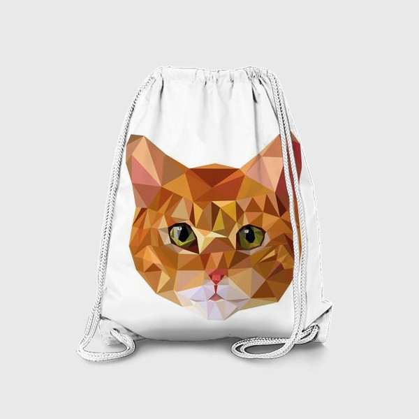 Рюкзак «Рыжий кот в стиле Low Poly»