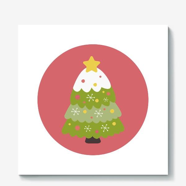 Холст «Новогодняя елка»